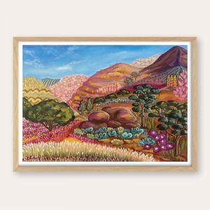 Wildflower Ranges |Abstract Landscape |Unframed Fine Art Print