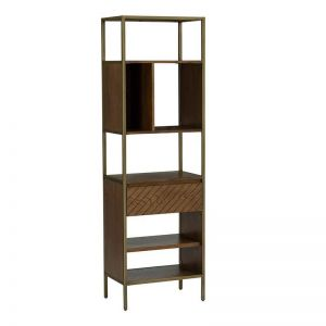 Willingham Bookcase | Brass & Wood