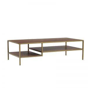 Willingham Coffee Table 140cm | Brass & Wood