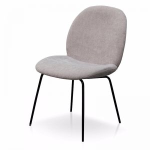 Willis Fabric Dining Chair   Oyster Beige