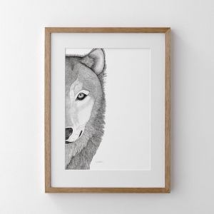 Willow the Wolf   Print