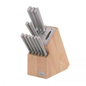 Wiltshire Staysharp Prem Stainless Steel Knife Block   12 piece