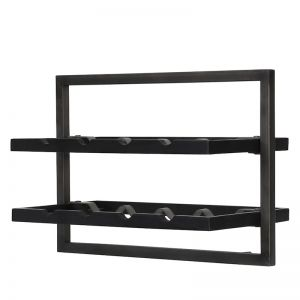 WINERACK | Style C | Teak Black Stain & Smoked Iron | by dBodhi