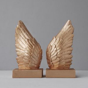 Wing Bookends | Gold
