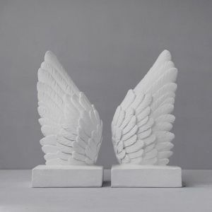 Wing Bookends | White