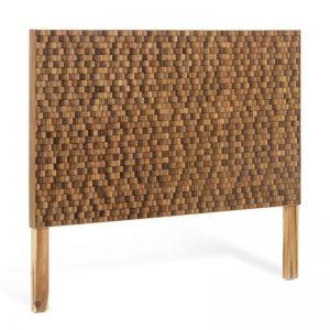 Wing Teak Timber Mosaic Headboard 164cm