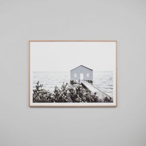 Winter Boathouse | Framed Print