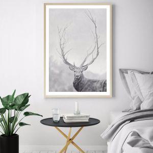 Winter Elk Premium Art Print (Various Sizes)