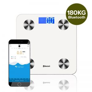 Wireless Bluetooth Digital Body Fat Scale Bathroom Health Analyser Weight White