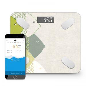 Wireless Bluetooth Digital Body Fat Scale Bathroom Health Analyzer Weight Fish Design