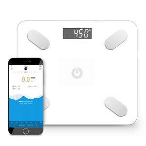 Wireless Bluetooth Digital Body Fat Scale Bathroom Health Analyzer Weight White