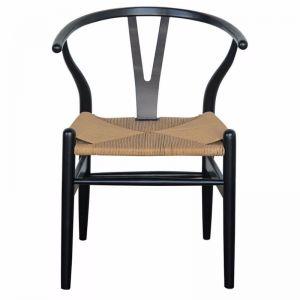 Wishbone Designer Replica Chair   Black Frame