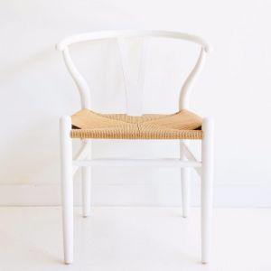 Wishbone Designer Replica Chair | Crisp White