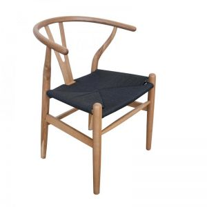 Wishbone Replica Chair | Natural Oak with Black Cord