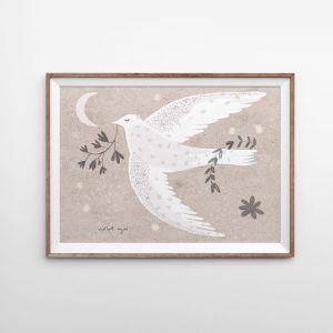 Wishing Bird   Sand   Art Print   Various Sizes