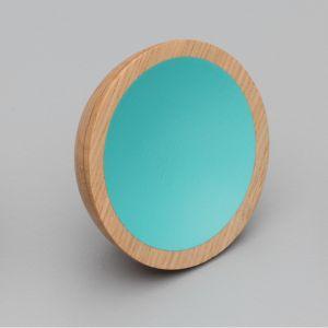 WOK Knob | Oak with Turquoise