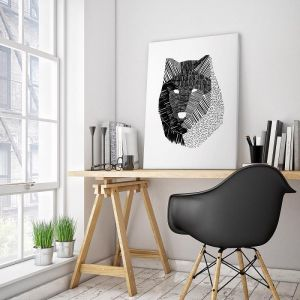 Wolf Mask | Ayarti | Canvas or Print by Artist Lane