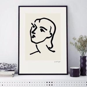 Womans Face | Unframed Art Print