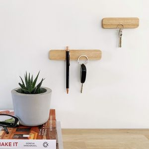 Wooden Magnetic Key Holder | Set of 2