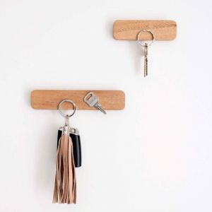 Wooden Magnetic Key Holder | Set of 2