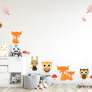 Woodland Friends | Wallpaper Cut Outs