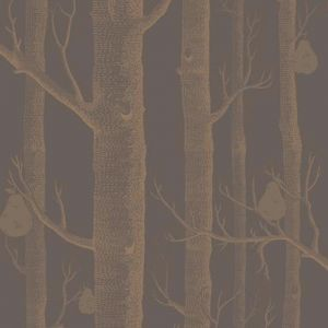 Woods & Pears wallpaper | Charcoal, Bronze & Copper