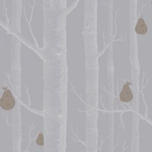 Woods & Pears wallpaper | Slate, Silver & Bronze
