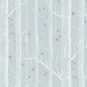 Woods & Stars Wallpaper - Powder Blue