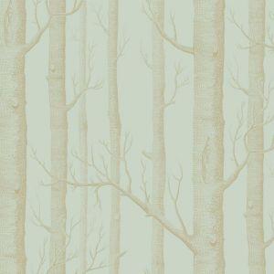 Woods Wallpaper - Green & Gold