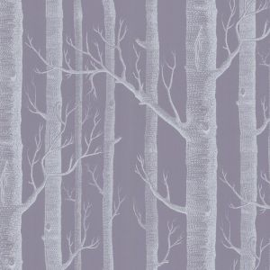Woods Wallpaper - Purple & White