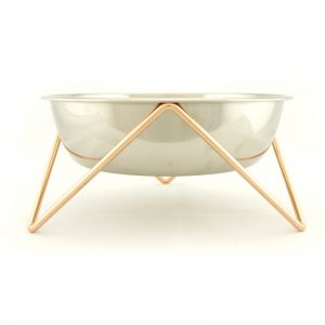 Woof | Dog Stand & Bowl | Copper