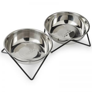 WoofWoof Double Dog Bowl | Copper