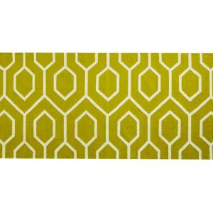 Wool Runner Rug | Beehive Lime | by Canvas & Sasson