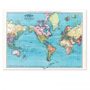 World Map Print by Zetta Florence