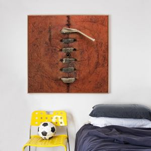 Worn Red Football Canvas