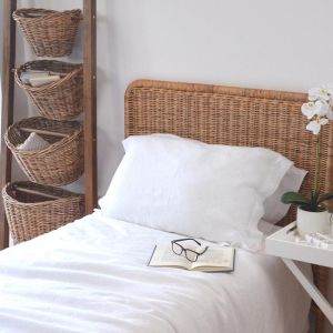 Woven Rattan Bedhead | Single-King Single Bed