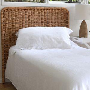 Woven Rattan Bedhead | Tall Double Bedhead