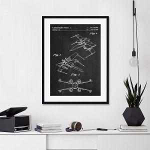 X-Wing Star Wars Patent | Unframed Art Print