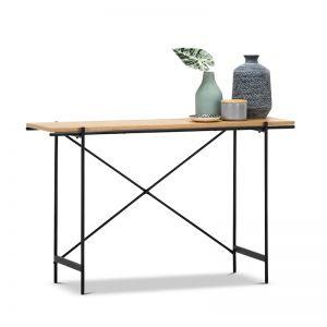 Xaviar Console Table | Natural & Black