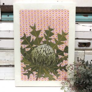 XL Woodblock | Bird's Nest Banksia