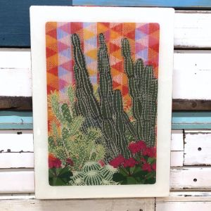 XL Woodblock | Hacienda Garden | Wall Hanging