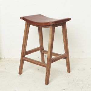 Yana Leather Barstool