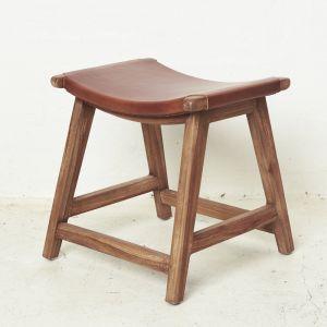Yana Leather Footstool l Pre Order