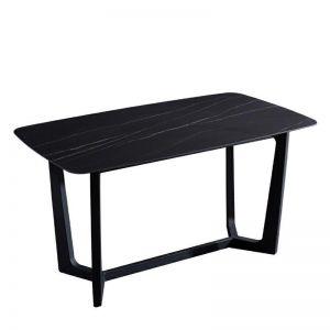 Yareli Stone Dining Table   180cm   Black