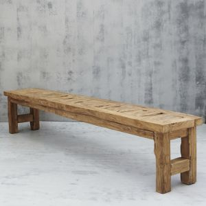 Yashar Rustic Bench Seat Large l Custom Made