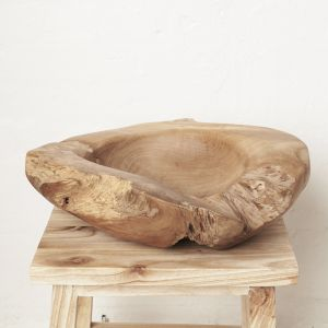 Yeira Large Teak Bowl