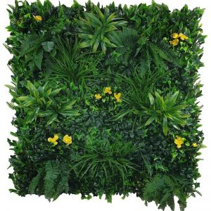 Yellow Rose Vertical Garden | Green Wall UV Resistant Sample