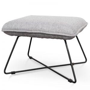 Yolanda Fabric Lounge Ottoman | Light Grey
