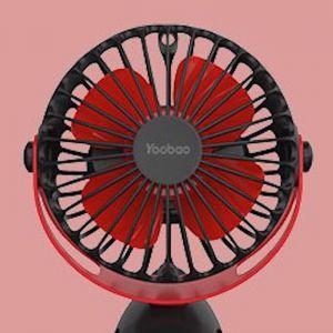 Yoobao 6400mAh Rechargeable Portable USB Low-noise/Noiseless Mini Clip On Fan