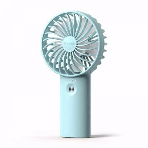 Yoobao Rechargeable 2 in1 Portable USB High Capacity Mini Fan & Power Bank- Blue